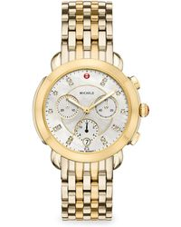 Michele Watches - Sidney Two-tone Diamond Dial Watch - Lyst