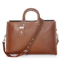 COACH - Covertible Leather Briefcase - Lyst