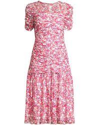 Shoshanna Vonne Floral Drop-waist Dress - Pink