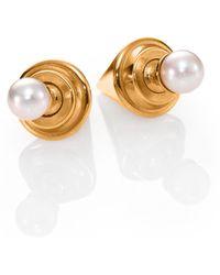 Vita Fede - Double Titan 5mm White Pearl Two-sided Earrings - Lyst