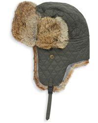 Surell - Kid's Rabbit Fur Trapper Hat - Lyst