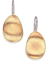 Marco Bicego - Lunaria Diamond & 18k Yellow Gold Drop Earrings - Lyst