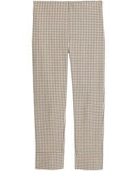 Theory Check Cropped Skinny Pants - Multicolor