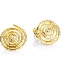 Elizabeth and James - Della Topaz Spiral Stud Earrings - Lyst