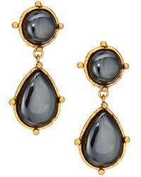 Sylvia Toledano 22k Goldplated & Hematite Double-drop Clip-on Earrings - Metallic
