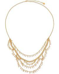 Chan Luu - Crystal Charm Draped Multi-row Necklace - Lyst