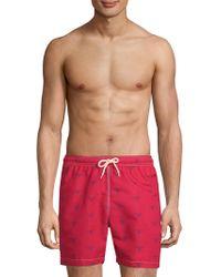 Barbour - Beacon Print Swim Shorts - Lyst