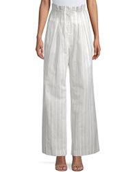 Rebecca Taylor - Striped Wide-leg Pants - Lyst