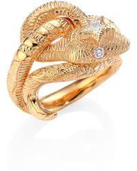 Gucci - Le Marché Des Merveilles Diamond & 18k Pink Gold Ring - Lyst