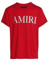 Amiri Amiri Logo Bandana Graphic T-shirt - Red