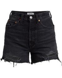 RE/DONE 50s Cutoff Denim Shorts - Black