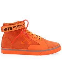 Off-White c/o Virgil Abloh - Men's Tonal Suede Mid-top Skate Sneakers - Lyst