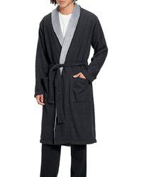 UGG Heritage Comfort Robinson Double-knit Robe - Black