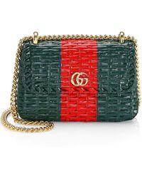c50b4df7344 Nancy Gonzalez Magenta Crocodile Top Handle Handbag with Shoulder Strap in  Purple - Lyst