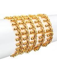 Nest - Teardrop Fringe Multi-row Chain Bracelet - Lyst