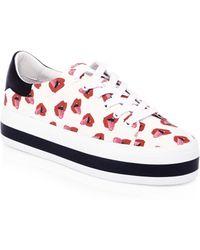 Alice + Olivia - Donald Robertson Collaboration Ezra Canvas Sneakers - Lyst