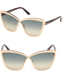 b05dffc2aa7 Tom Ford - Women s Sandrine 68mm Infinity Sunglasses - Blue Gold - Lyst