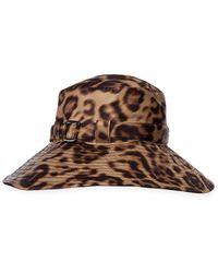 Eric Javits Kaya Leopard-print Hat - Brown