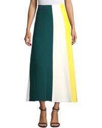 Derek Lam - Colorblock Knit Midi Skirt - Lyst