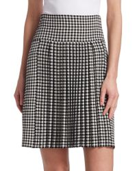 Akris Punto - Gingham Pleated Skirt - Lyst