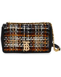 Burberry Lola Small Tweed And Leather Cross-body Bag - Black