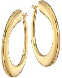 Roberto Coin - 18k Yellow Gold Oro Hoop Earrings - Lyst