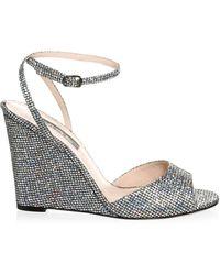 SJP by Sarah Jessica Parker Boca Glitter Wedge Sandals - Metallic