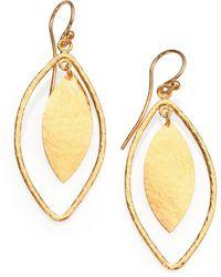 Gurhan - Willow 24k Yellow Gold Leaf Drop Earrings - Lyst
