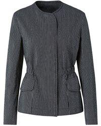 Akris Punto Seersucker Drawstring Jacket - Black