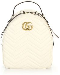 046ae9ba8001 Gucci - GG Marmont Chevron Quilted Leather Mini Backpack - Lyst