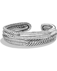 David Yurman - Labyrinth Double-loop Cuff With Diamonds - Lyst