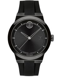 Movado - Bold Fusion Stainless Steel Silicone Strap Watch - Lyst