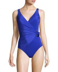 Gottex | Grace Kelly Surplice Swimsuit | Lyst
