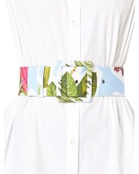 Carolina Herrera - Floral-print Buckled Belt - Lyst