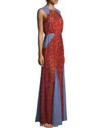 BCBGMAXAZRIA - Marlyn Woven Floor-length Dress - Lyst