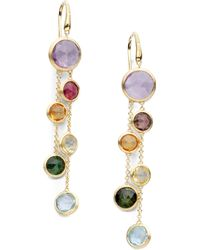 Marco Bicego - Jaipur Semi-precious Multi-stone & 18k Yellow Gold Drop Two-strand Drop Earrings - Lyst