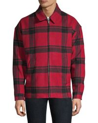 The Kooples - Plaid Trapper Jacket - Lyst