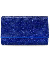 Judith Leiber Fizzy Crystal Clutch - Blue