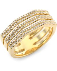 Ron Hami - Triplex Diamond & 18k Yellow Gold Ring - Lyst