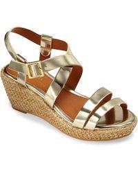 Ralph Lauren - Girl's Sabrina Metallic Wedge Sandals - Lyst