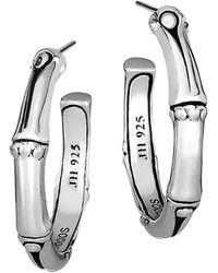 John Hardy Bamboo Sterling Silver Hoop Earrings/1 - Metallic