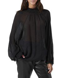 Joie Aldine Silk Top - Black