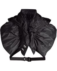 Y-3 Hooded Nylon Scarf - Black