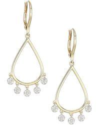 Phillips House Infinity 14k Yellow Gold & Diamond Drop Dangle Earrings - Metallic