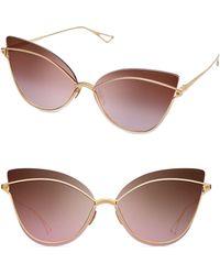 45acc693516 Dita Eyewear - Women s Nightbird One 66mm Cat-eye Sunglasses - Gold - Lyst