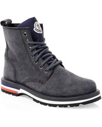 Moncler New Vancouver Leather Hiking Boots - Gray