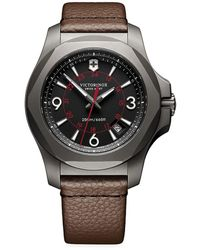 Victorinox Inox Titanium & Leather Watch - Brown