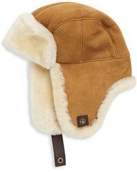 UGG - Shearling Trapper Hat - Lyst