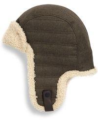 fda667b3ca47a4 J.Crew Toscana Shearling Trapper Hat in Brown for Men - Lyst