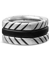 David Yurman - Chevron Stack Ring - Lyst